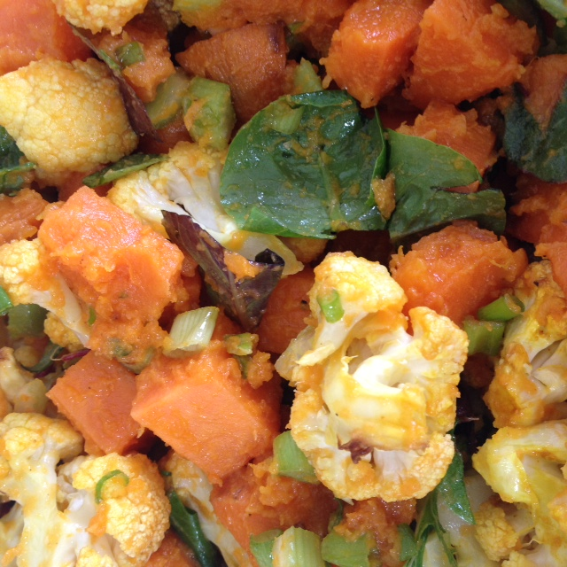 Cauliflower & Sweet Potato Salad