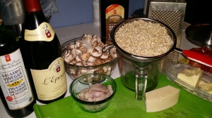 Barley rissotto ingredients
